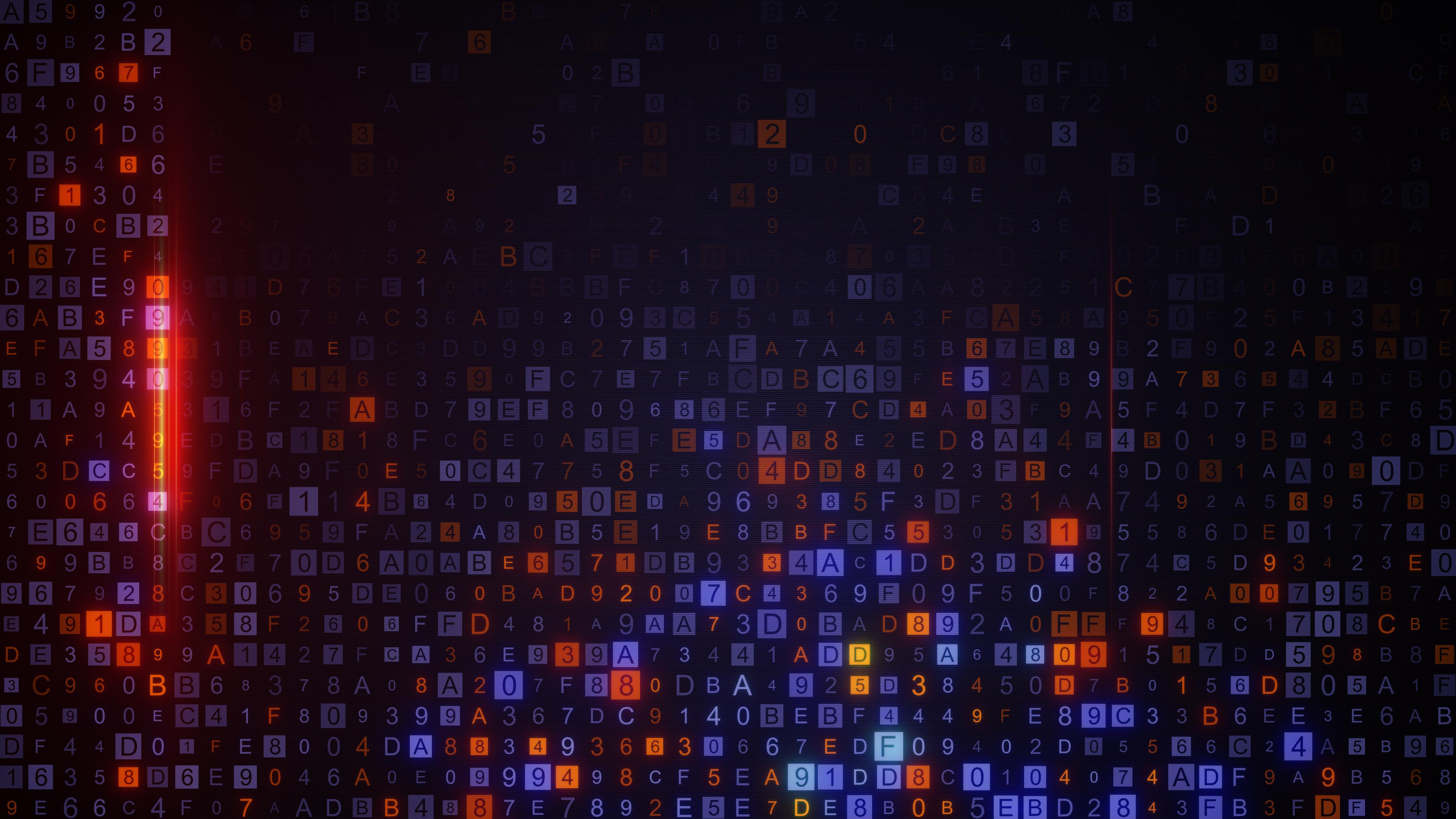 digital hex data code absrtact background